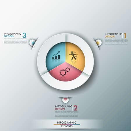 grafica de pastel: Modern infografía opciones de banner. Vectores