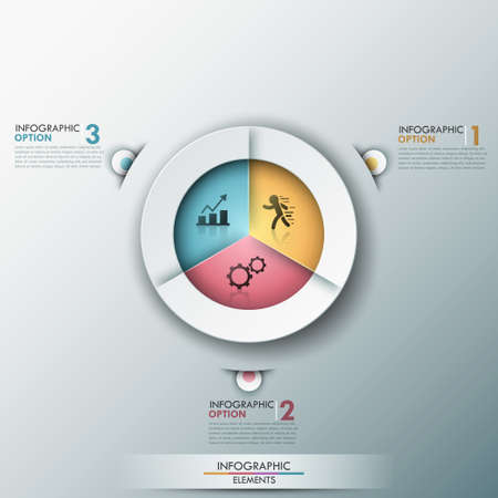 pie chart: Modern infographics options banner.
