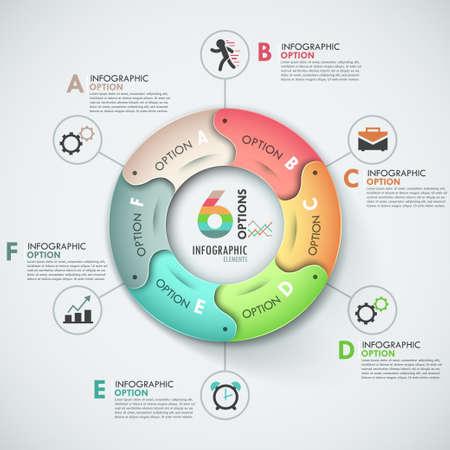 diagrama procesos: Modern infografía opciones de banner. Vectores