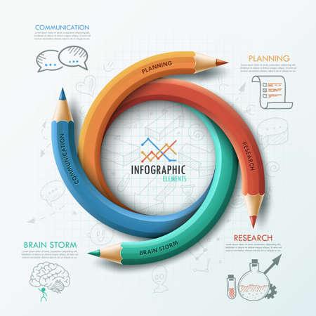 Modern Infographic template Ilustração