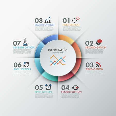 color chart: Modern infographics options banner.