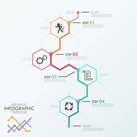 time line: Minimal infographic timeline Illustration