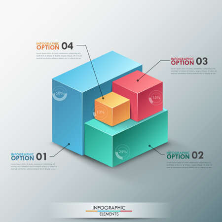 Modern infographics options banner. Vector
