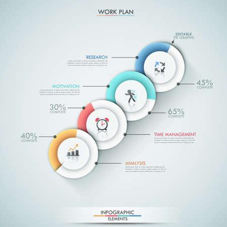 diagrama circular: Modern infografía opciones de banner. Vectores