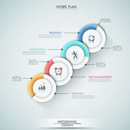 Modern infographics options banner. Vector