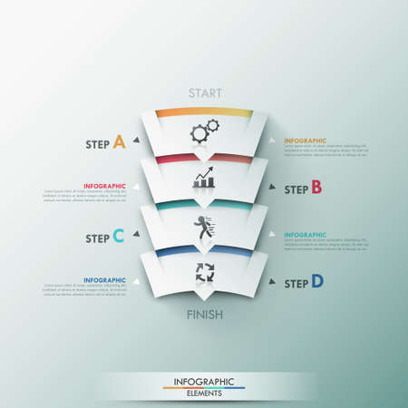 trapezoid: Modern infographics options banner.