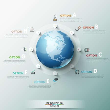 Modern Infographic Options Banner Vettoriali