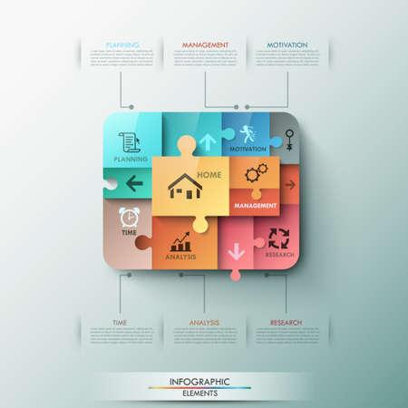 Modern infographic options banner. Ilustracja