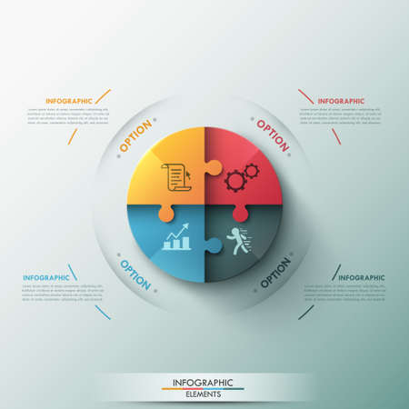 3d circle: Modern infographic options banner. Illustration