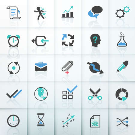 stock clip art icons: Set of 25 modern bussiness icons. Vector.