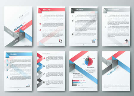 Brochure design template Illustration