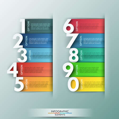 numbers abstract: Modern infographics options banner.