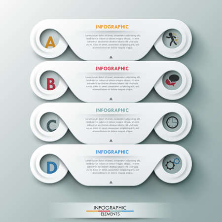 3d circle: Modern infographic option banner with abstract round shapes.