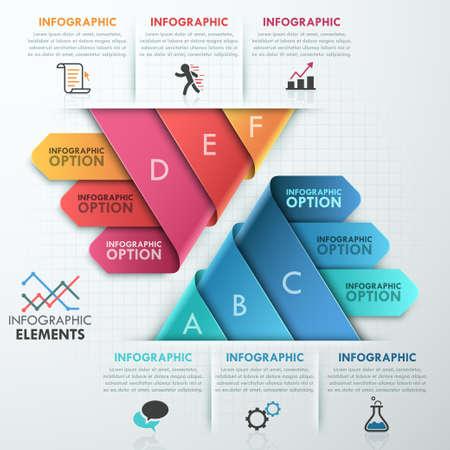 pyramid: Modern infographics options banner.