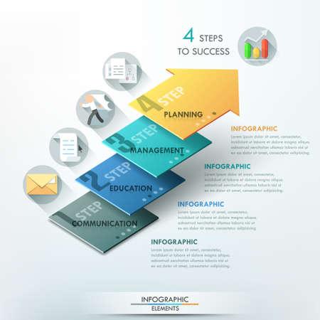 Nowoczesny banner opcje infografiki