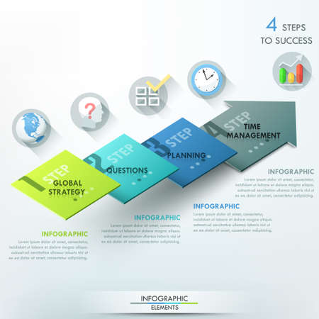 graphic element: Modern infographics options banner