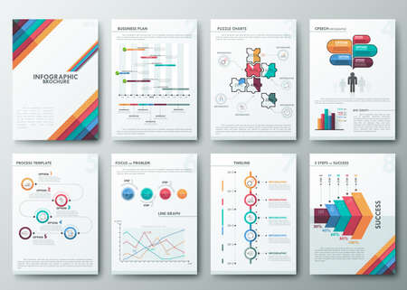 Brochure design template Illustration