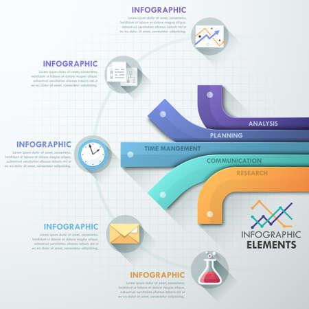 process: Infograf�a moderna Opciones bandera