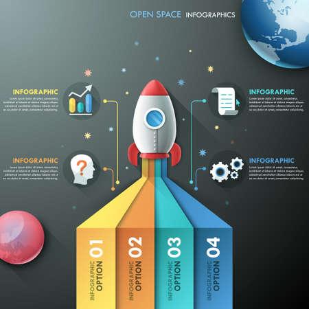 rocket ship: Modern Infographic Template