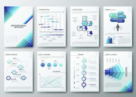 Brochure design template Vectores