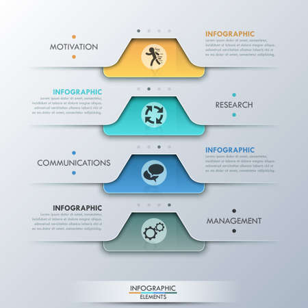 business decisions: Modern infographic option banner