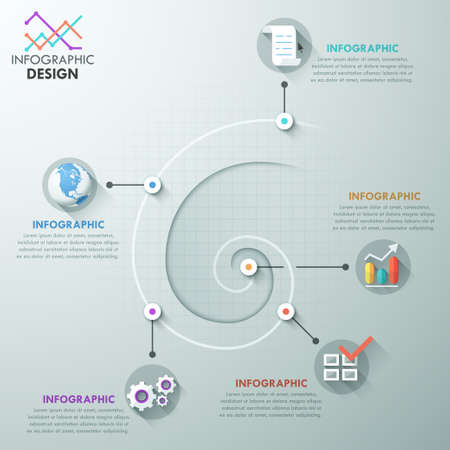 education choice: Modern infographics options banner.