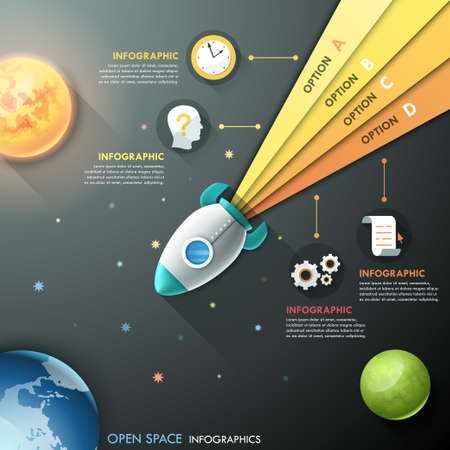 rocket ship: Modern Infographic Template