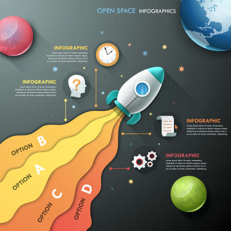 paper art projects: Modern Infographic Template