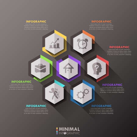 proffesional: Modern infographics options banner.