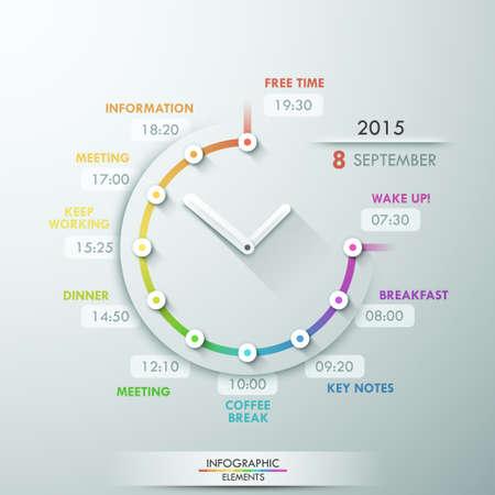 timeline: Modern infographics options banner.
