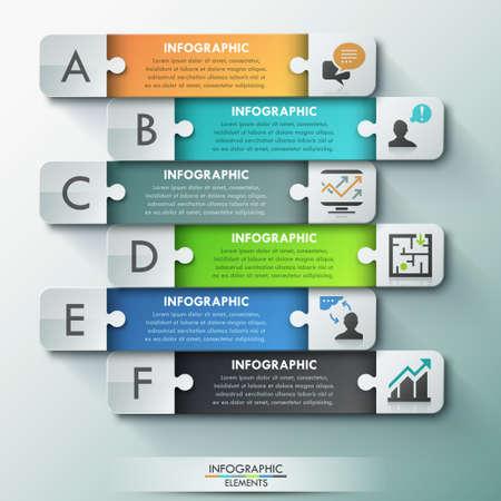 Modern infographic options banner. Ilustração