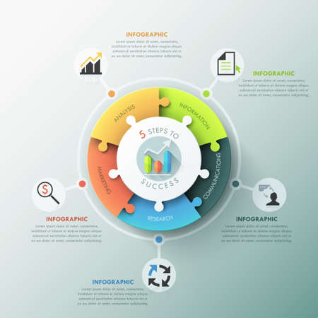 process chart: Modern infographic options banner. Illustration