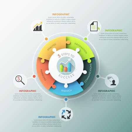 Modern infographic options banner. Vettoriali