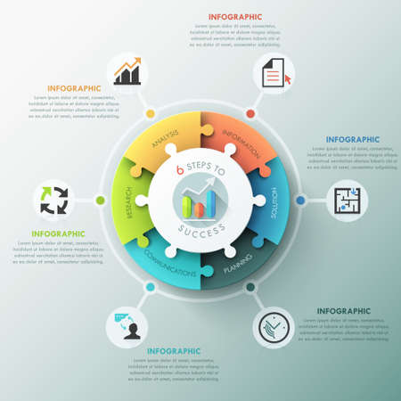 pie chart: Modern infographic options banner. Illustration