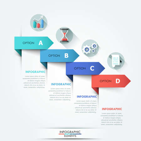 graphic presentation: Modern infographic option banner