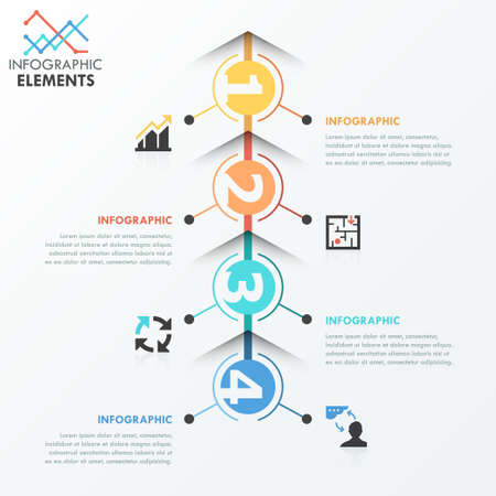 web solution: Modern infographics options banner