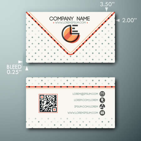 media logo: Modern creative business card template with logo, lines and little circles