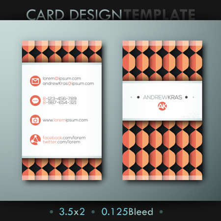 media logo: Modern creative business card template with logo, icons and colorful textures Illustration