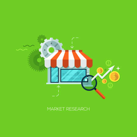technology market: Market research infographic technology online service application internet business concept vector. Design elements for web and mobile applications, infographics and workflow layout Illustration