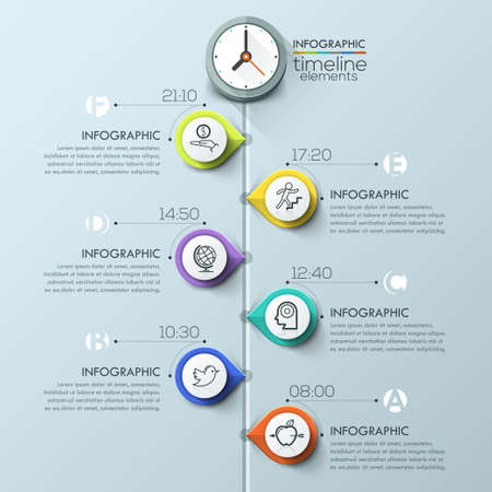 timeline: Business timeline infographic template. can be used for workflow layout, banner, diagram, number options, web design. Illustration