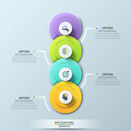 tabs: Modern circle business template. Vector illustration. Can be used for workflow layout, diagram, number options, web design, infographics and timeline.