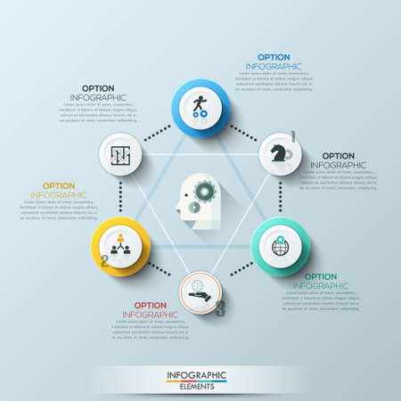 step up: Modern business circle style options banner. Vector illustration. can be used for workflow layout, diagram, number options, step up options, web design, infographics.