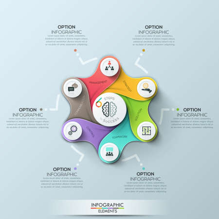 Futuristic circle business template. Vector illustration. Can be used for workflow layout, diagram, number options, web design, infographics and timeline.