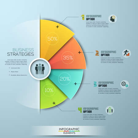 step up: Modern business Infographics circle origami style illustration. can be used for workflow layout, banner, diagram, number options, step up options, web design. Illustration