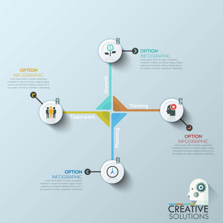 Modern clean business circle origami style cycle banner. Vector. can be used for workflow layout, diagram, number options, step up options, web design, infographics, timeline.