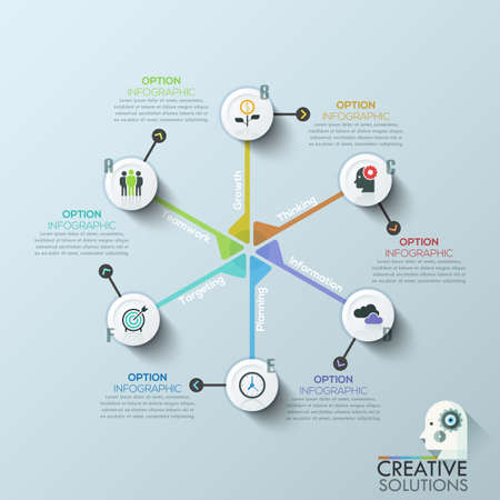 tabs: Modern clean business circle origami style cycle banner. Vector. can be used for workflow layout, diagram, number options, step up options, web design, infographics, timeline.