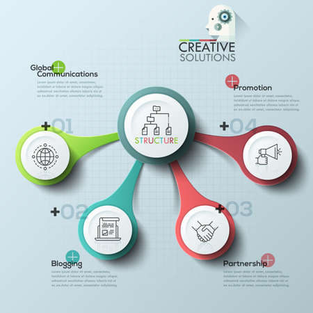 abstract business: Vector elements for infographic. Template for diagram, graph, presentation and chart. Business concept with 5 options, parts, steps or processes. Abstract background