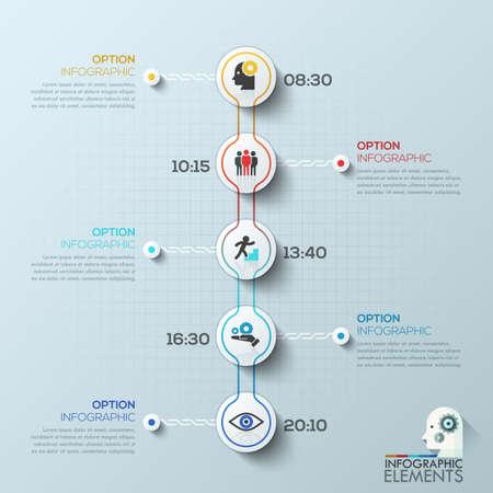 modern circle business timeline template vector illustration