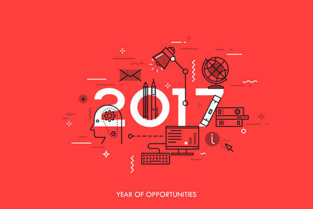 trend: Infographic concept 2017 year of opportunities Illustration
