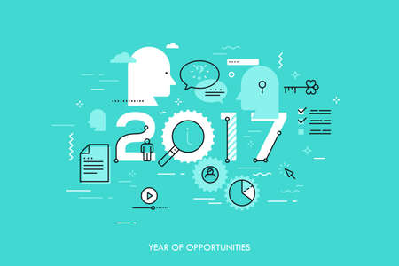 Infographic concept 2017 year of opportunities Illustration